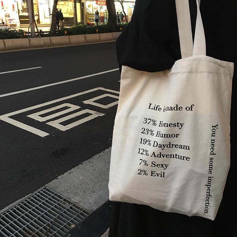 Bolsa Nuevo bolso bolsos Hot Selling Tote Fashion Canvas Reutilizable Ladies Casual Hombro Mujer Youda Bolsas Compras Oiklb