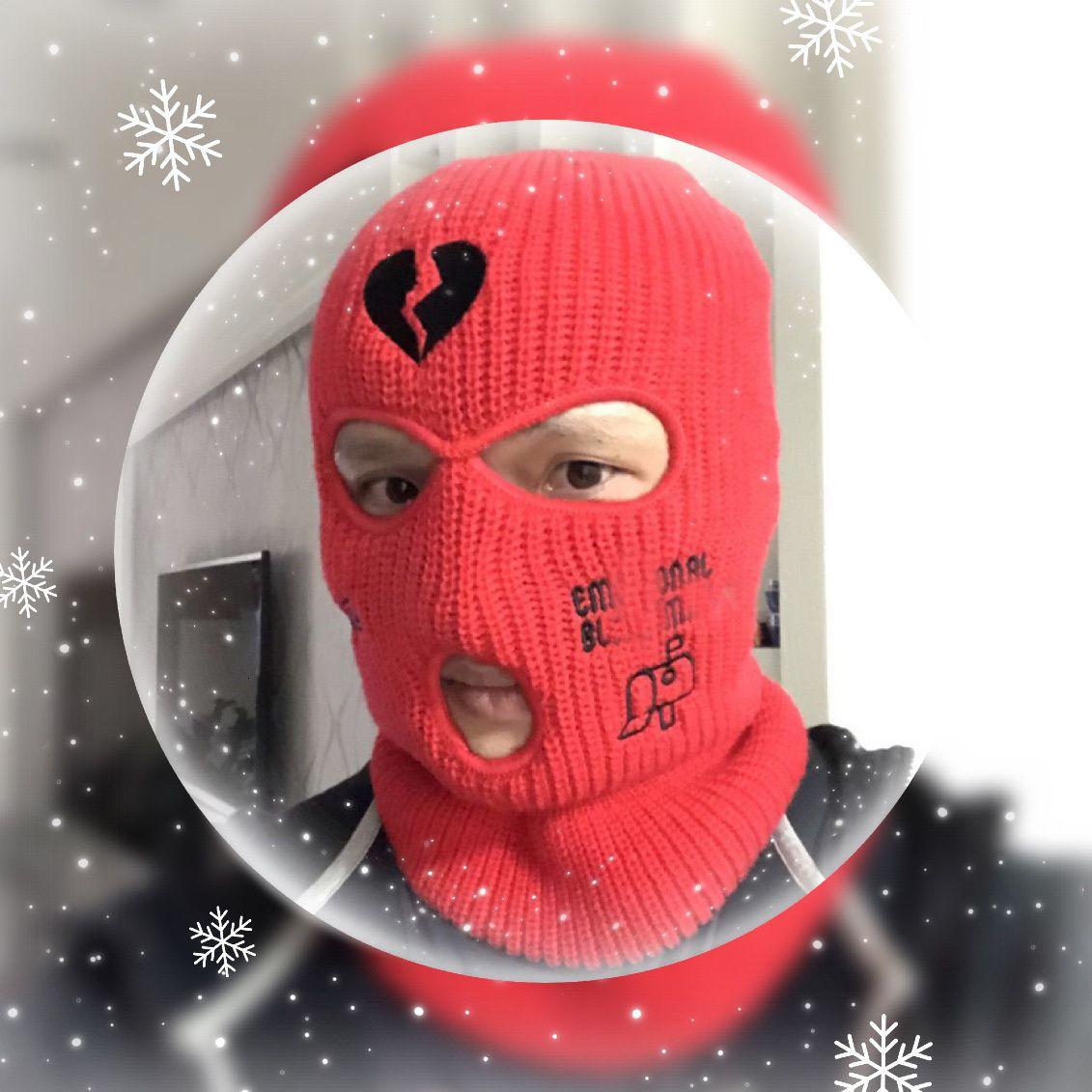 Пользовательские лыжные лица маска 3 отверстия BalaClava персонализированные вышивки теплые зимние шляпы для мужчин женские термальные вязаные Neo Hat Halloween Party