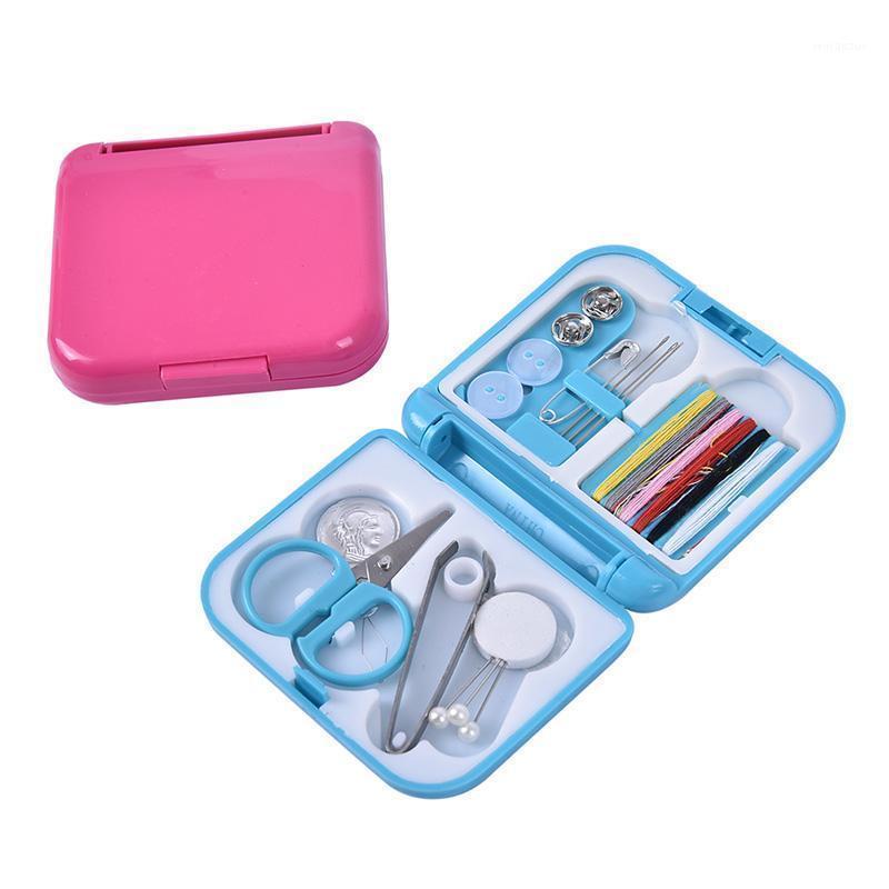 Portable Travel Couture Kits de rangement Boîte De Stockage Filfs Scissor Thimble Buttons Boutons Accessoires à coudre Accueil Accessoires1