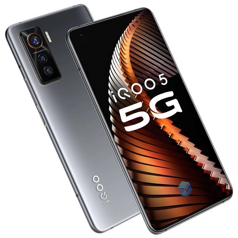 "Original Vivo iQOO 5 5G Handy 12GB RAM 128 GB 256 GB ROM Snapdragon 865 Octa Kernandroid 6,56"" 50MP AR Fingerabdruck-ID intelligentes Handy"