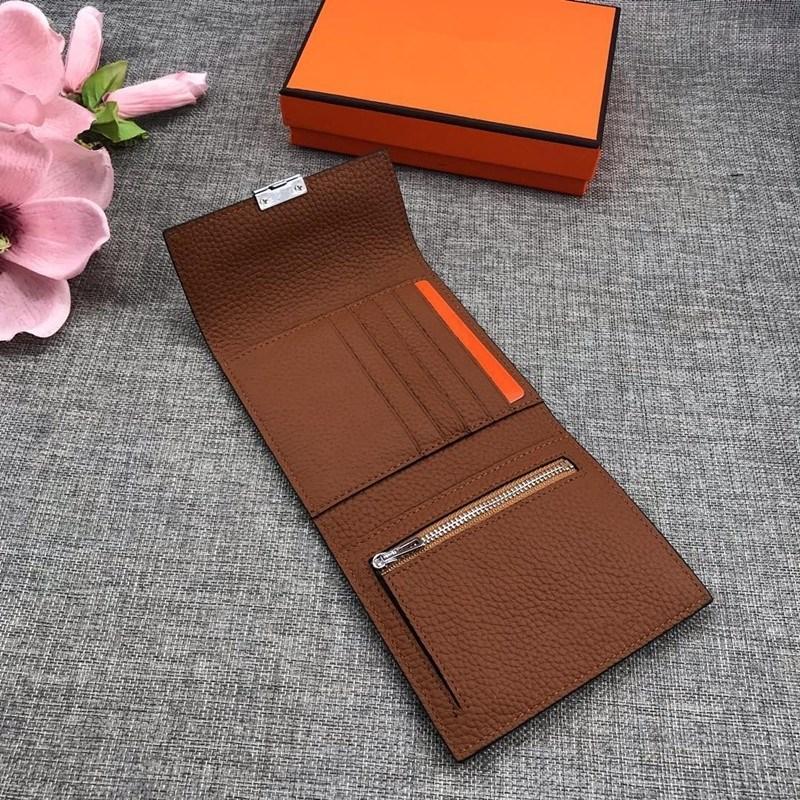 2021 qualidade superior couro macio carteira curta senhora cartão de visita carteira de carteira de cor sólida cor quadrada carteira