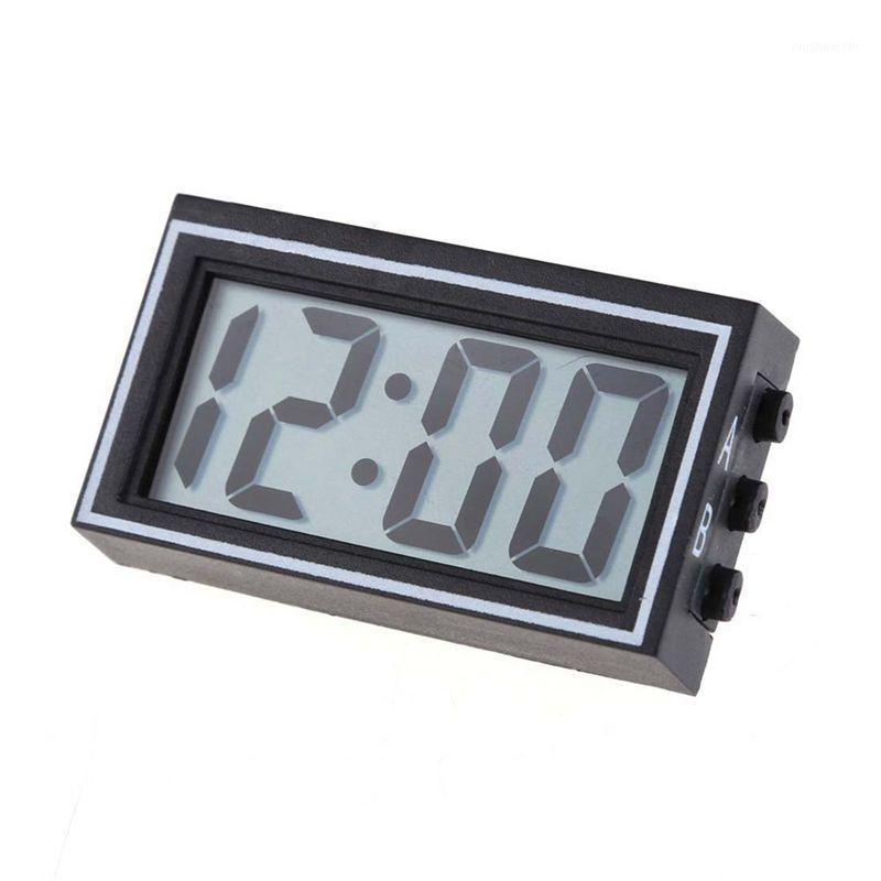 기타 시계 액세서리 LIXF 미니 디지털 LCD 자동 자동차 트럭 대시 보드 날짜 시간 달력 시계 블랙 1