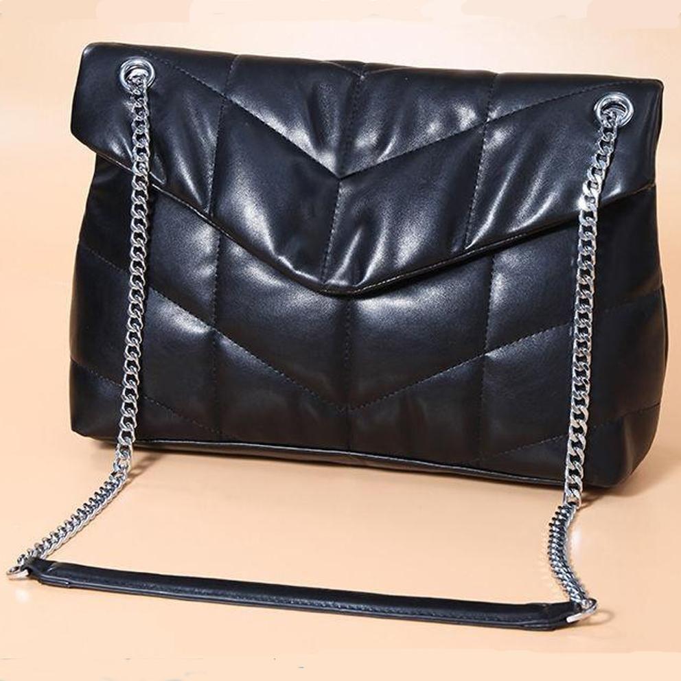 2021 المصمم الشهير يجب حقيبة أعلى جودة جلد طبيعي حقيبة يد المكشوفة رفرف المرأة سلسلة معدنية حقائب