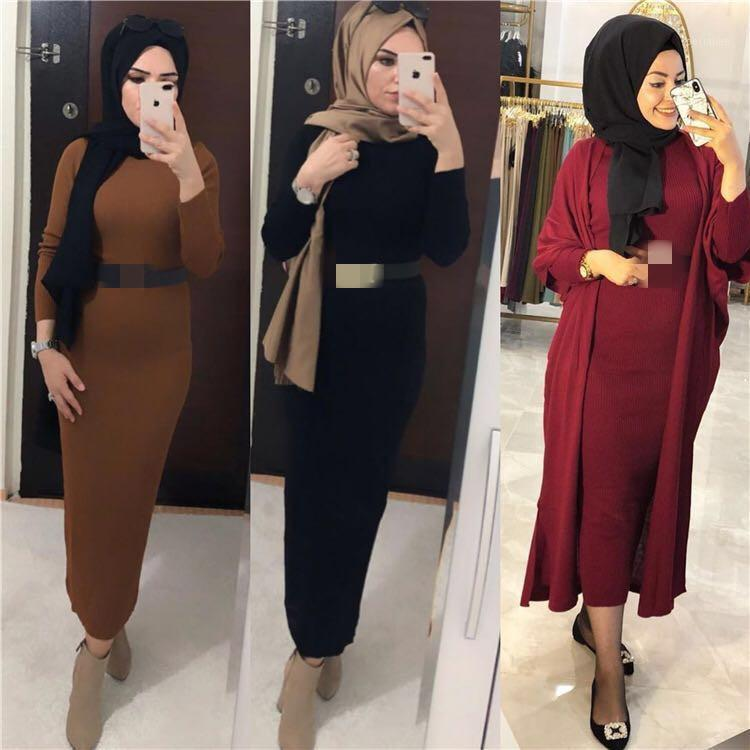 Ethnic Clothing Winter Sweater Abaya Dubai Turkey Muslim Hijab Dress Caftan Kaftan Islam Abayas For Women Robe Musulman1