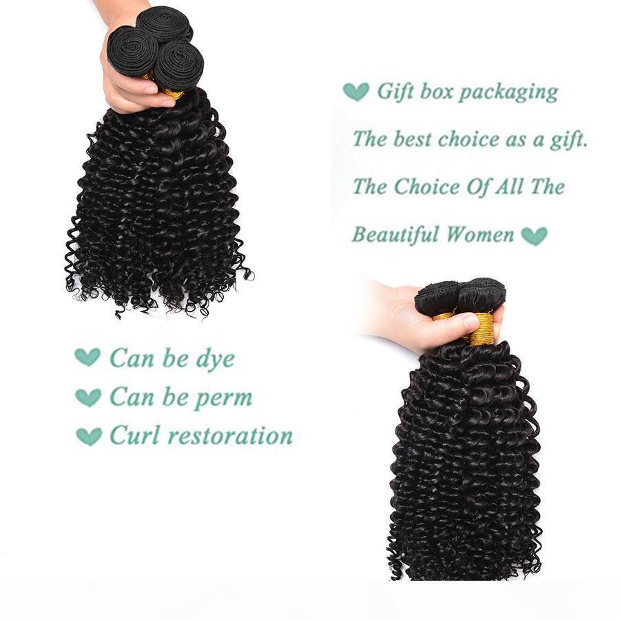 4*4 Lace Closure 7A Grade Peruvian Virgin Hair Deep Wave 3 Bundles Peruvian Deep Wave With Lace Closure Cheap 100% Human Hair