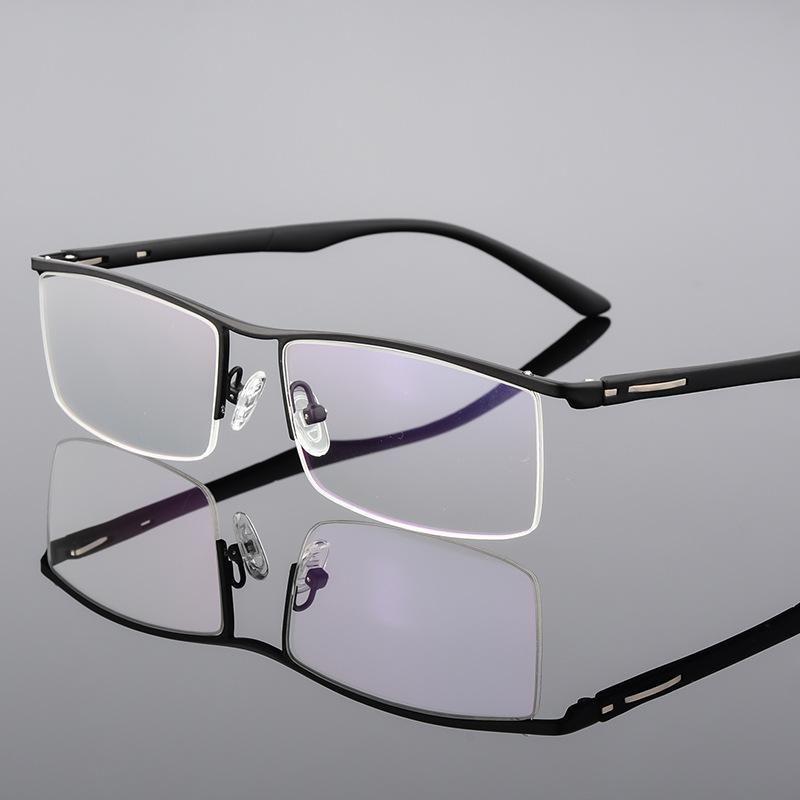 Gläser für mann halbe rand metallrahmen eyewears Geschäftsstil mit browine rahmen optische schaukeln
