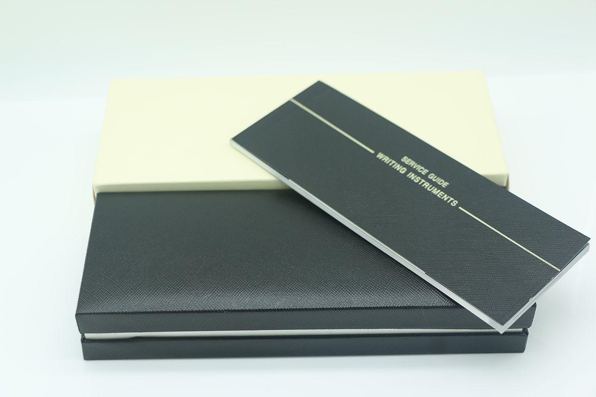 عالية الجودة الأسود الخشب الإطار القلم مربع ل نافورة القلم / قلم حبر جاف / أسطوانة الكرة الأقلام قلم رصاص مع دليل الضمان