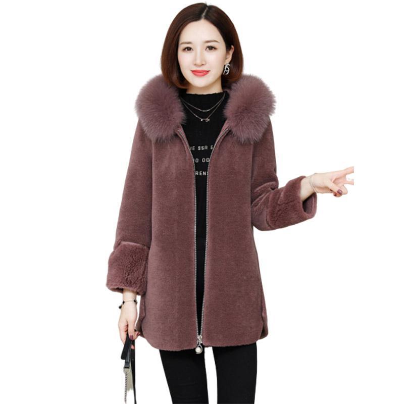 2020 Faux Mink Mode Pelze Pelz lose Teddy Mantel für Frau Parka Herbst Jacke Women Short Overcoat Fourrure Femme Kaninchen Pelz C1001