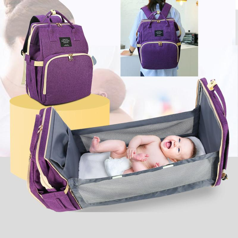 Diaper Backpack For Moms Waterproof Large Capacity Stroller Organizer lequeen Mommy Maternity Bags Nappy Variety Baby Bag Q1113