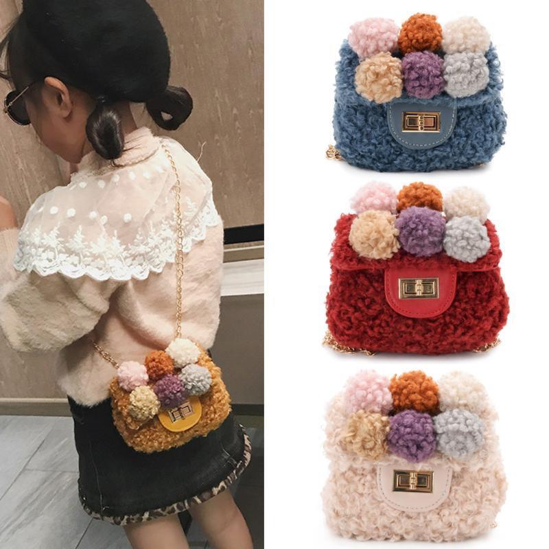 Diseñador coreano niños mini monederos y bolsos 2020 lindo bolsa de lana Cruzado para bebés de la moneda pequeña bolsa monedero del regalo de la muchacha