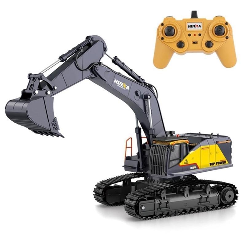 Rctown Huina 1:14 1592 RC Accavator Excavator 22CH Большой RC Engineering Carimulation Excavator Пульт дистанционного управления Игрушка для мальчиков 201223