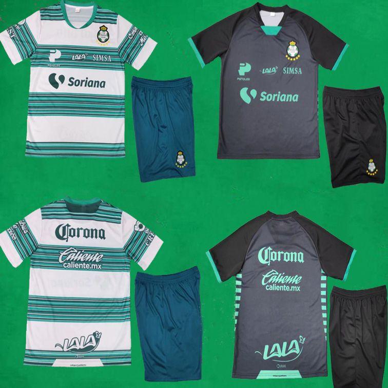 20 21 Club Santos Laguna Fußball Jersey Shorts Home Away Kits 2020/21 Liga MX Club Santos Laguna Football Kits Männer Hemden Fußball Uniformen