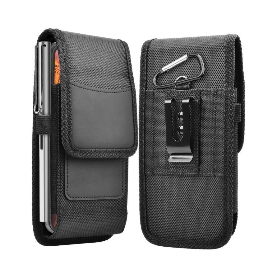 삼성 아이폰 (12) 프로 XR XS 최대 6 7 8 케이스 파우치 홀스터에 대한 보편적 인 허리 팩 벨트 클립 허리 가방 파우치