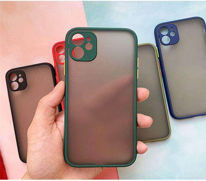 투명 피부 케이스 아이폰 (12) 프로 맥스 프로스트 투명 전화 케이스 소프트 TPU를 들어 Iphone11 프로 맥스 XR 7 8 플러스를 보호 내진성