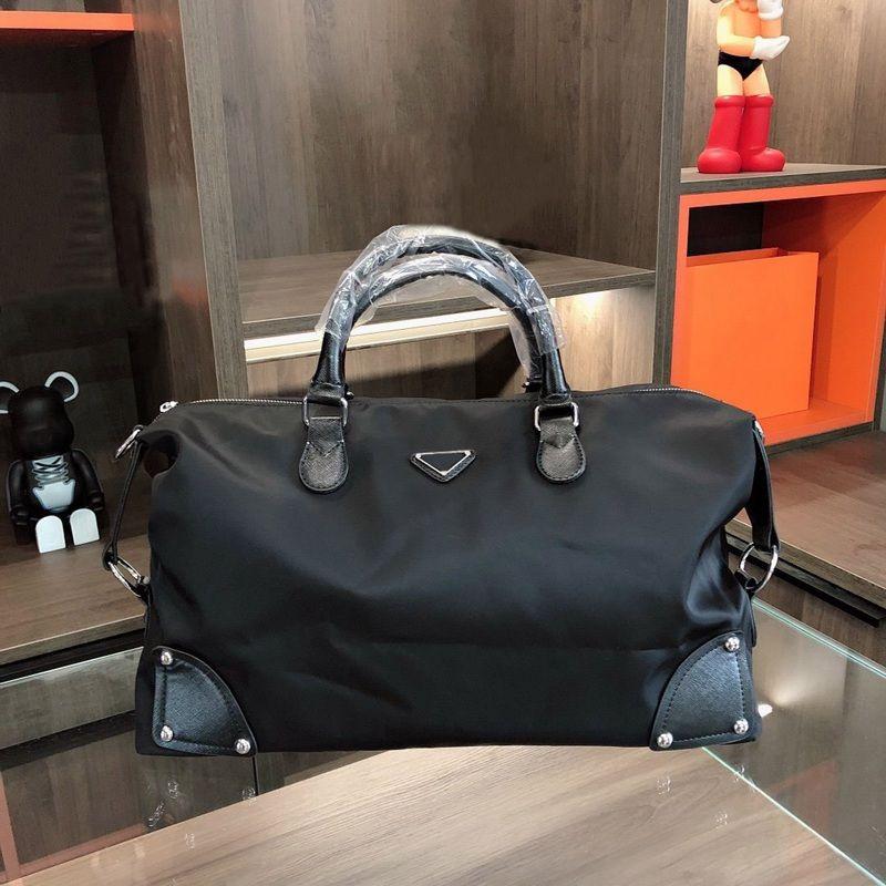 Uomini vestito valigette borsa borsa per laptop borse portatile triple nero nylon e pelle uomo business tote uomo viaggio computer con manico moda casual
