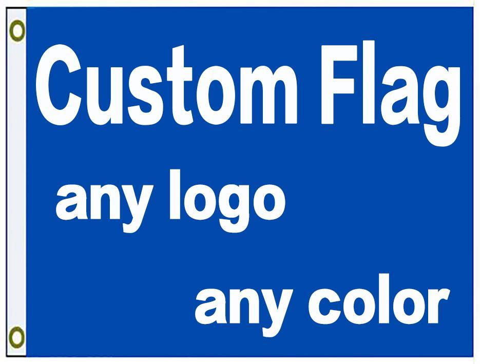 Direkte Fabrik 90x150cm 3x5ft Custom Print Flag-Banner mit Ihrem Logo-Design benutzerdefinierte 100D-Logo-Flagge anpassen Flagge