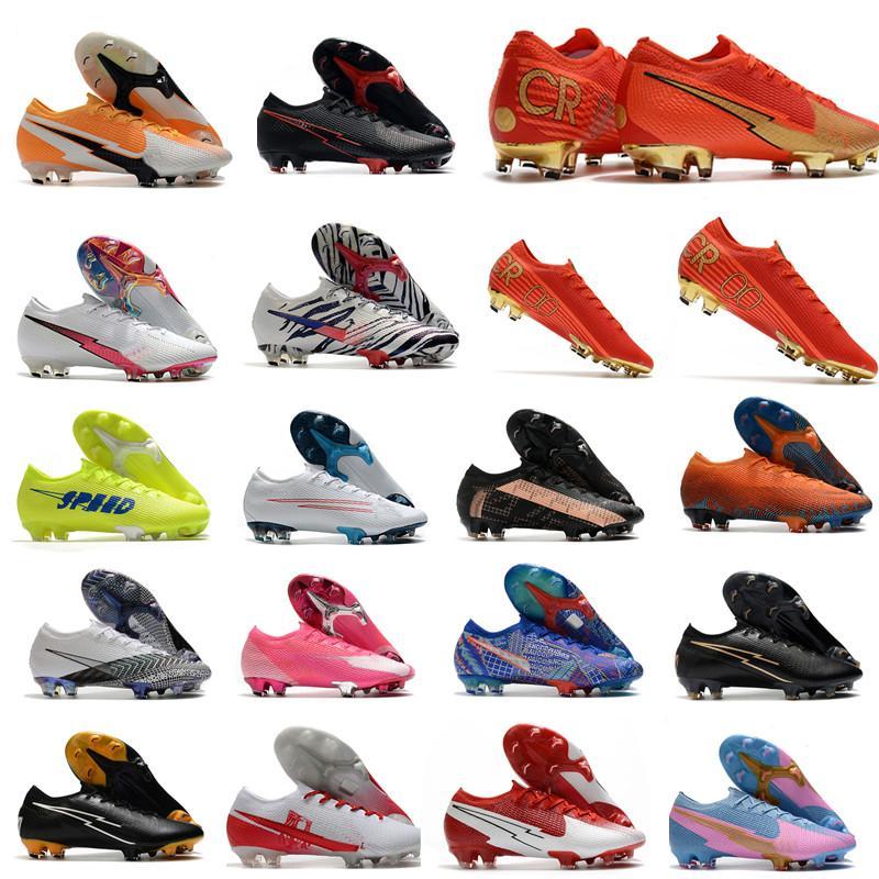 Bottes de football Mercurial Cr7 Mercurial Cr7 Cr7 FLG AG Chaussures de football noir de haute qualité rouges Tarcles de football rouge 39-45