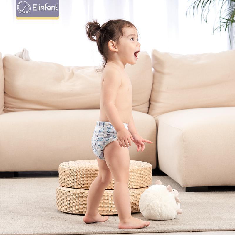 Elinfant Bebek Yüzme Pantolon Su Geçirmez Ayarlanabilir Bezi Bezi Havuz Bezi Bezi Kullanımlık Yıkanabilir Bebek Nappies1