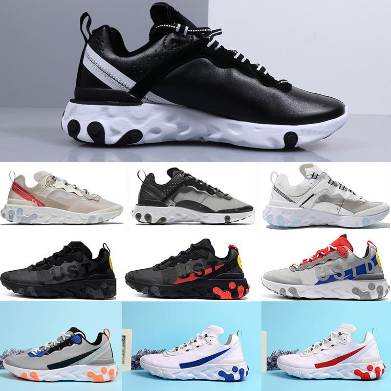 2020 Eleman Tepki 55 UNDERCOVER 87 Koşu Ayakkabı Takım Kırmızı Orbit Bred Tur Yeşil Epik Runner Spor Sneakers Runner Eğitmenler 90 Vapourmaxs