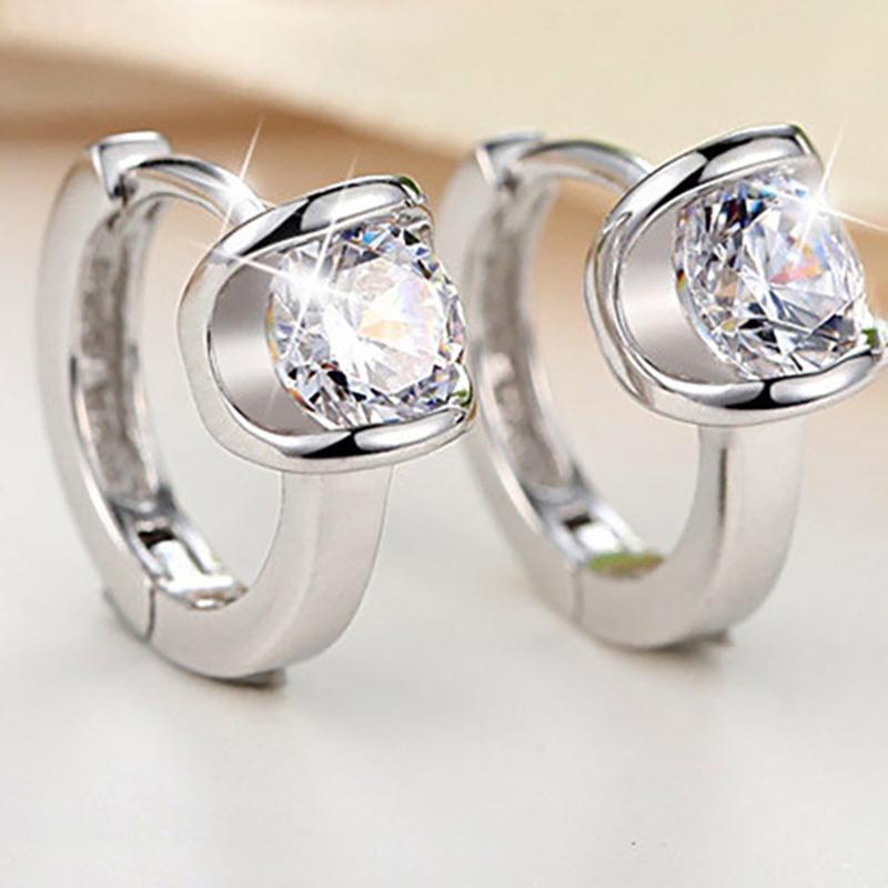 Шпилька женская небольшая мода Серьги изысканные Ювелирные изделия Роскошные кристалл Блестящие буровые Женщины Обручальные подарки