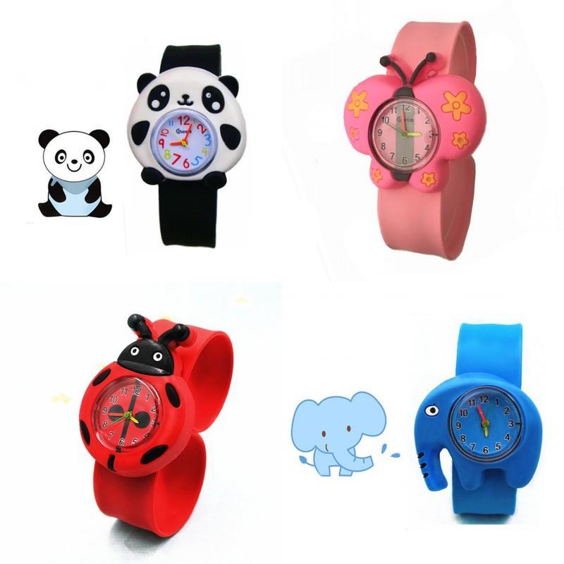 Nette Kinder Uhren für Mädchen Junge Cartoon Brid Slap Kids Baby Mädchen Junge Armbanduhr Silikon Gelee Kinder Sportuhr 18 J2