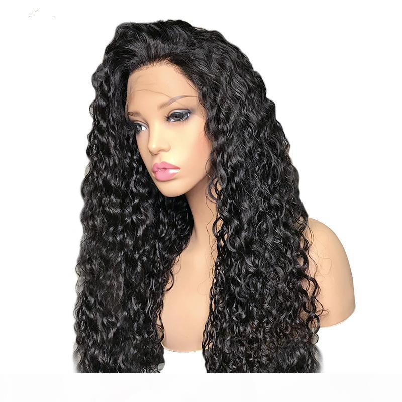 Parrucca riccia con i capelli del bambino100% Vingin Vingin Parrucche anteriori del merletto brasiliano dei capelli del merletto per le donne nere della parrucca del pizzo dei capelli della remy della donna nera 150% di densità
