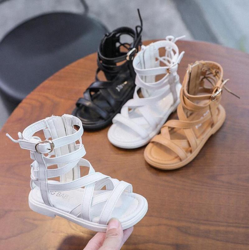 Sapatos de Verão Princesa Desempenho Roma Sandálias Bebés Meninas moda infantil Dança sandálias para meninas Plano sapatinhos de desconto Crianças Sho CYil #