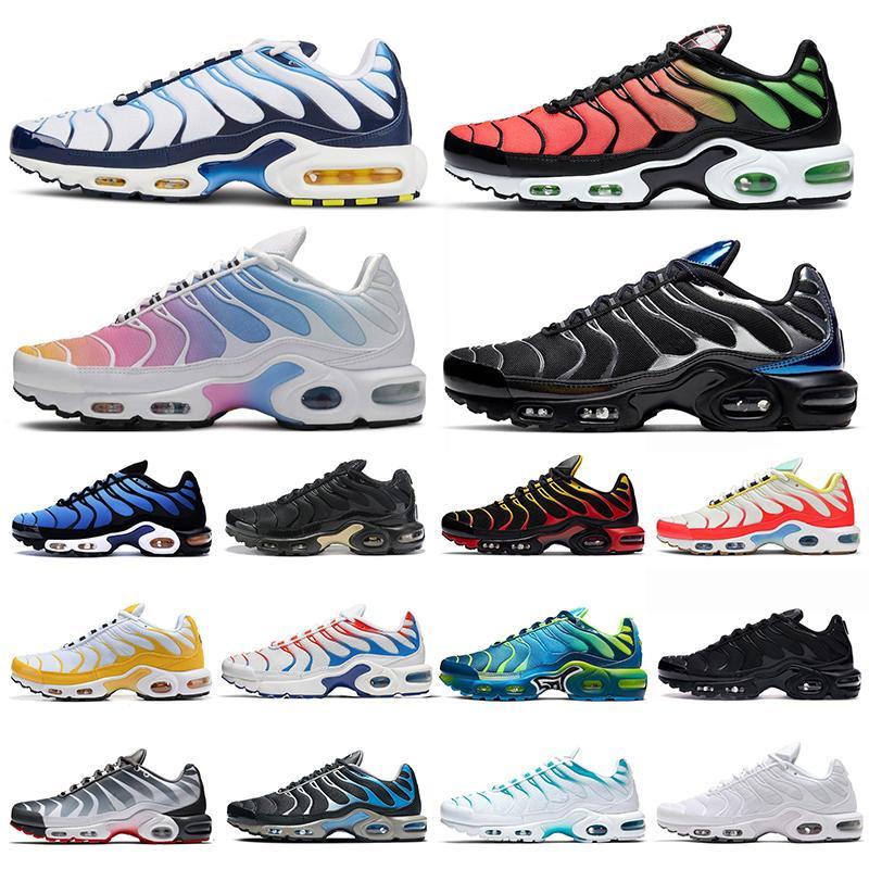 nike air max tn tns airmax Los nuevos mens zapatos corrientes máximos de air degradado Chorome aire libre TNS entrenador deportivo zapatillas de deporte