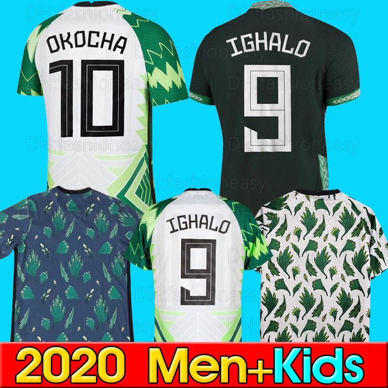 Magliette da calcio della di alta qualità della Thailandia 2020 2021 Okechukwu OKOCHA AHMED MUSA MIKEL IHEANACHO Calcio kit magliette da calcio 2020 Home Away