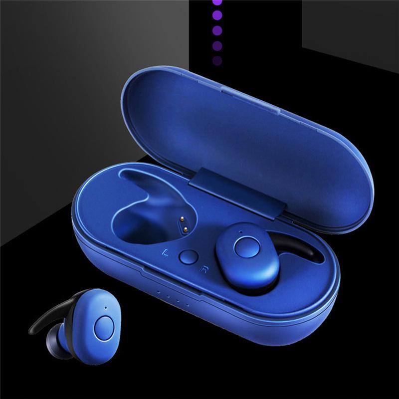 DT-1 fone de ouvido TWS Bluetooth In-Ear Mini Headphones Bass Headset Wireless Sport Headphone com caixa de carregamento com microfone