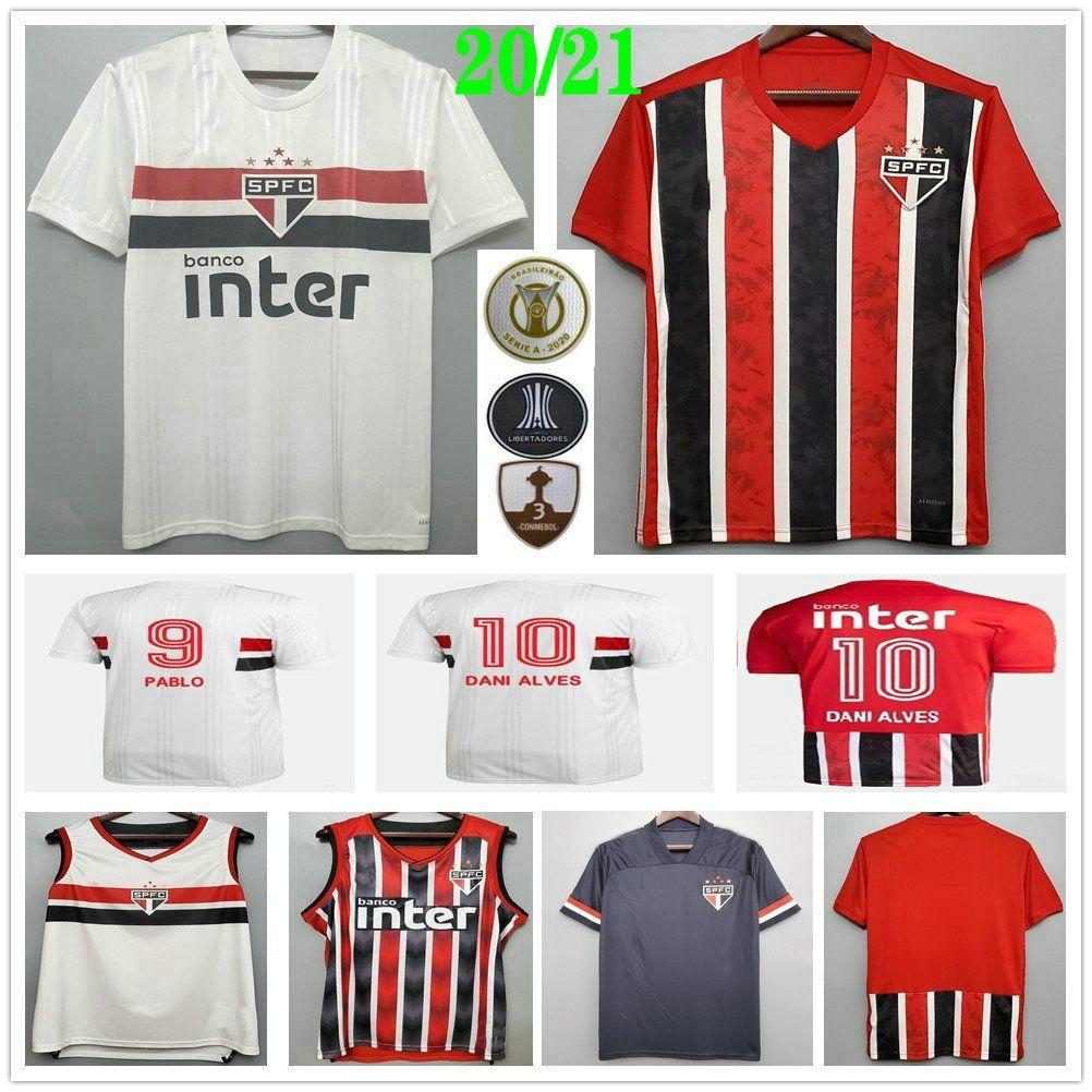 2020 2021 2021 ساو باولو لكرة القدم الفانيلة داني ألفيس باتو نيني بابلو هيرنانيس هيلينيو مخصص 20 21 منزل بعيدا ثالث الرجال امرأة أطفال كرة القدم قميص