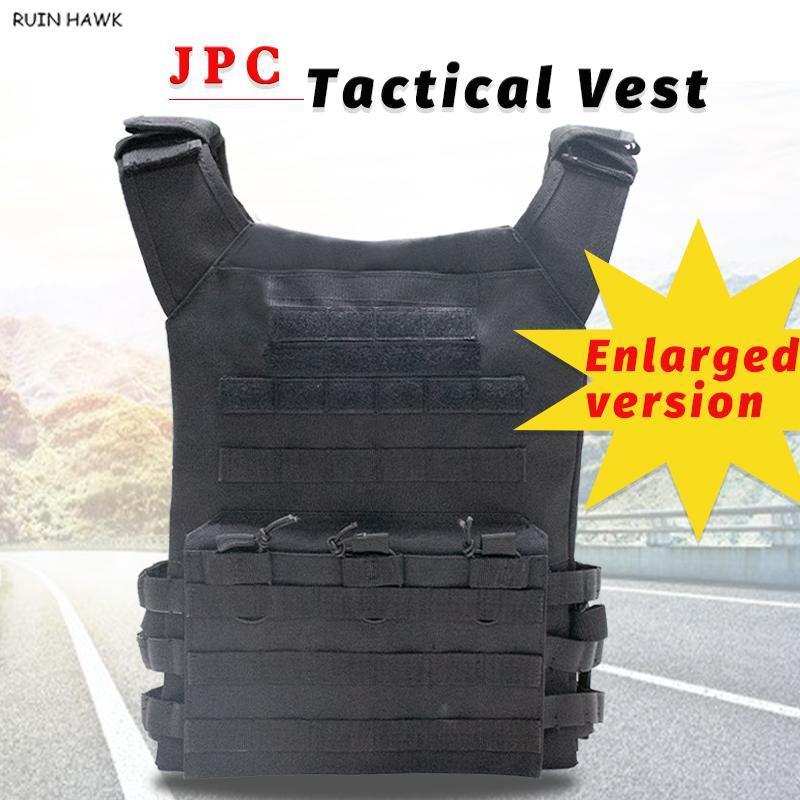Tamanho Grande JPC Vest alta qualidade resistente ao desgaste e durável ajustável Tactical Vest Paintball Equipment Tactical Gear