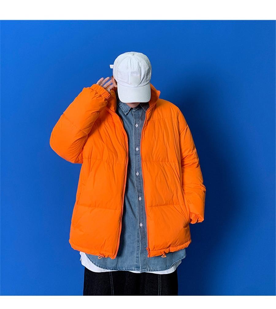 Casl cor sólida inverno omer jaqueta homens 2021 homens magro falta de manga longa casaco de zíper kaki windreaher casaco de homens quentes # 673111
