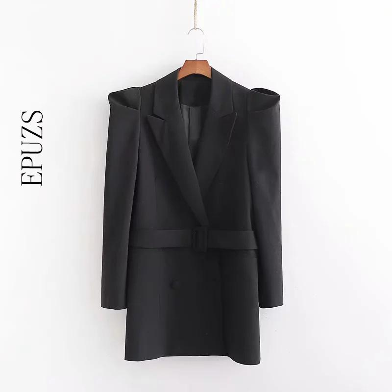 Otoño manga larga blazer blazer mujeres elegante trabajo oficina mujeres blazers y chaquetas casual dama larga coreano traje chaqueta