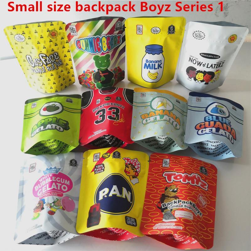 Blague à dos sac à dos Boyz 3.5g Mylar Sacs Tomyz Merzcato Sac à dos Boyz 33 Visage à gaz Lechera Beurre de cacahuète Mintz 420 Packaging fleur d'herbe sèche