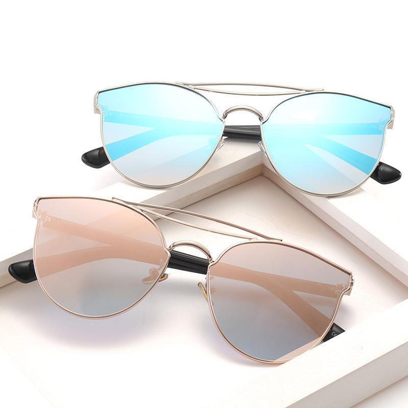 Güneş Gözlüğü Lonsy Tasarımcı Kadınlar Kadın UV400 Vintage ulculos Feminino için Yüksek Kaliteli Kare Kedi Gözü