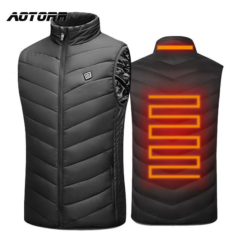 Männer Westen Männer Outdoor USB Infrarot Heizung Weste Jacke Herren Winter Elektrische Wärmekleidung Weste Sportwanderung Camping Baumwollmäntel