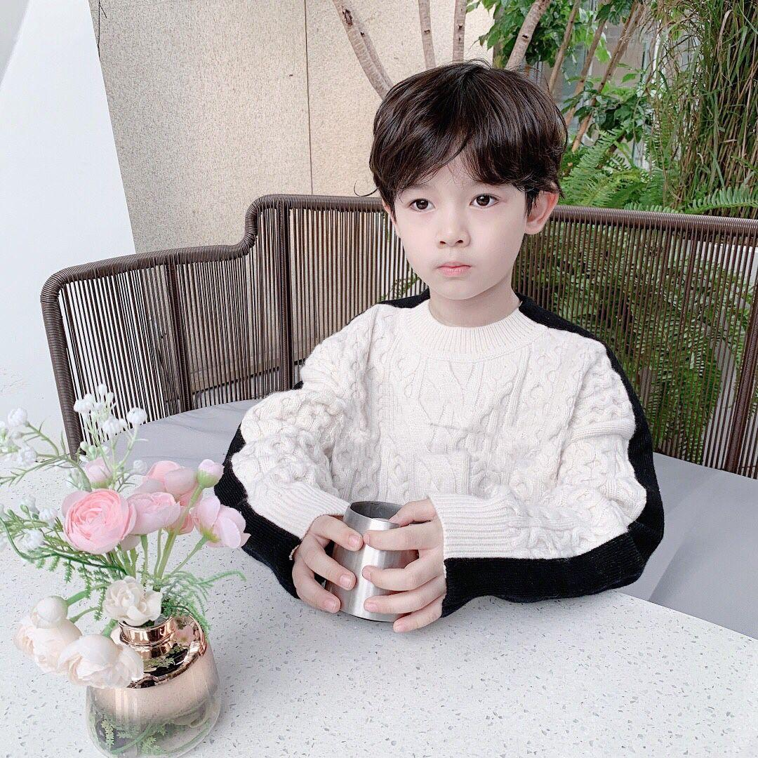 Autumn Winter Kids Girls boys Long Sleeve Knit Hemp Flowers Sweater Children Clothing Baby Kids Girls Pullover Sweaters and winter coat