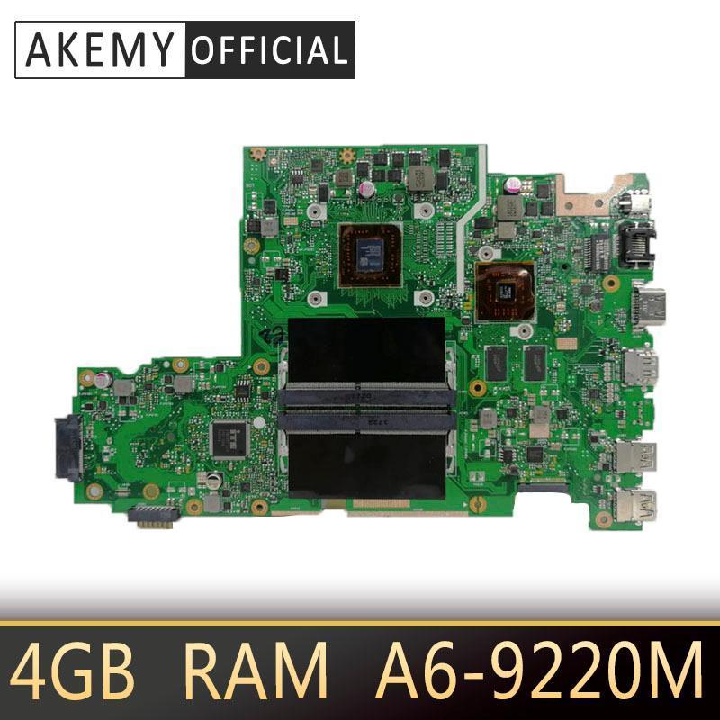X542BP laptop motherboard For ASUS X542B X542BP A580B K580B FL8000B Mainboard 100% test 4GB RAM A6-9220M CPU 2.5GHZ