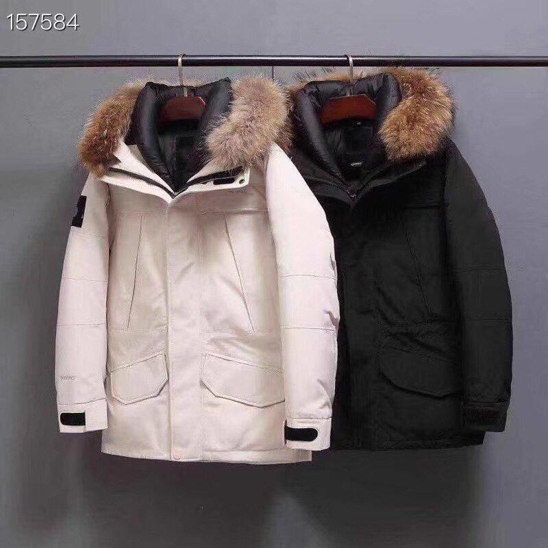 Mans Clothes Down Jacket Men Parka Jackets Detachable Sweater Collar Men Warm Down Jacket Designer Winter Jackets Coat Size S-XXXL