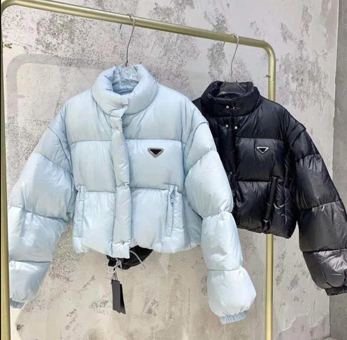20FW Женщины куртка вниз ветровки пальто Зима Стиль Тонкий корсет Толстые Outfit куртки Карман Негабаритные Lady Утепленные пальто S-L
