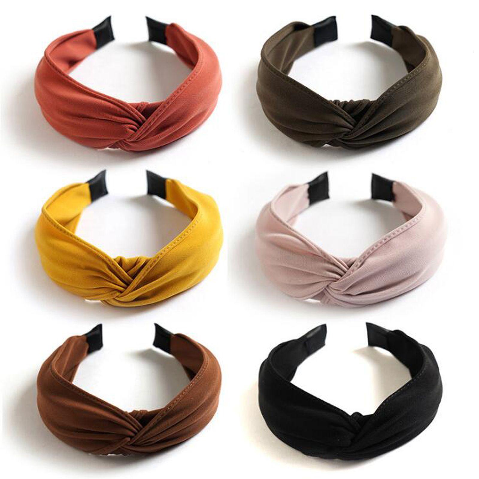 Nouvel Arrivage massif Hairband Turban Femmes Bandeau gros Classique Croix Knot Accessoires de haute qualité Hoop cheveux