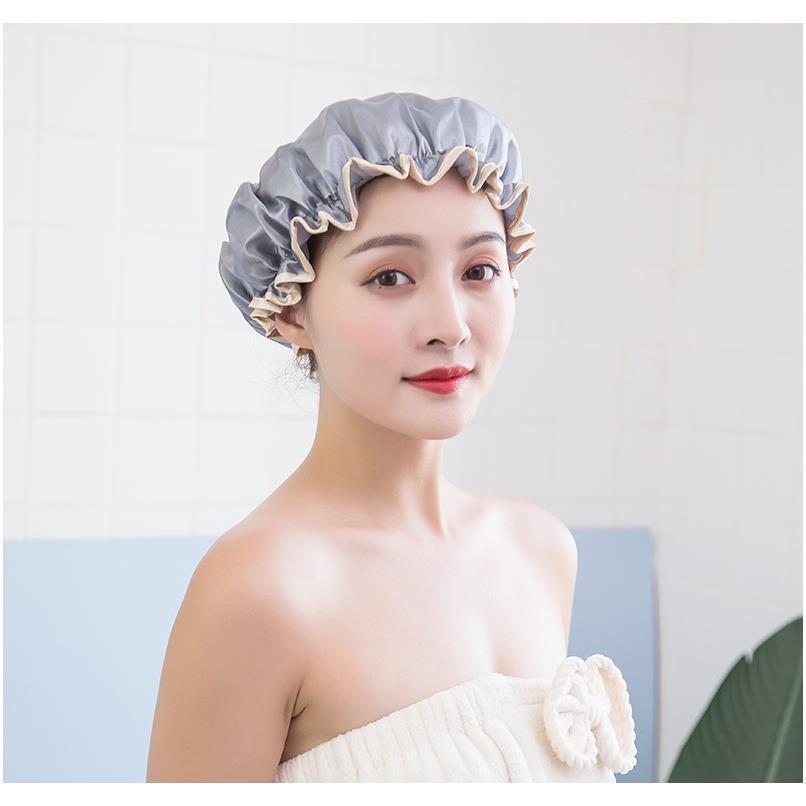 Бытовой двухслойный Водонепроницаемый Душевая Шапка для душа Peaga Утолщенные женские Шампунь Ванна для ванны Двухсловного двойного слоя дешево по низким ценам F SQCPLX