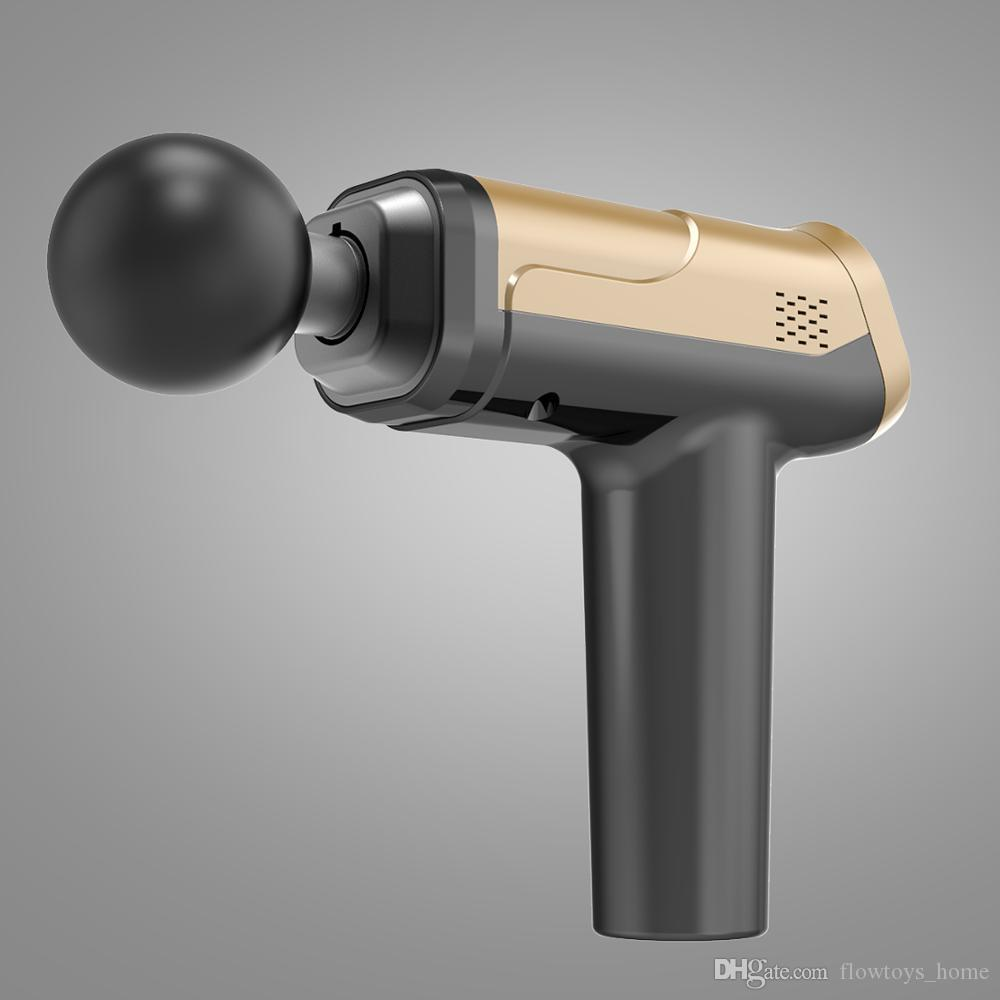 58% Off Massage Pistolet Mięśnia Masażer Masażer Wibracje Faszynowe Pistolet Fitness Sprzęt Redukcja szumów Design do męskiej GHF