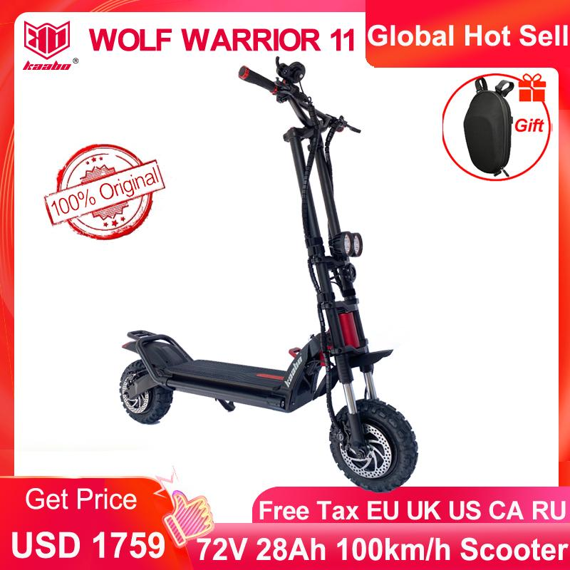 Kaabo Wolf Warrior II higher version 11inch 60V 35AH Electric Scooter with Hydraulic shock absorption