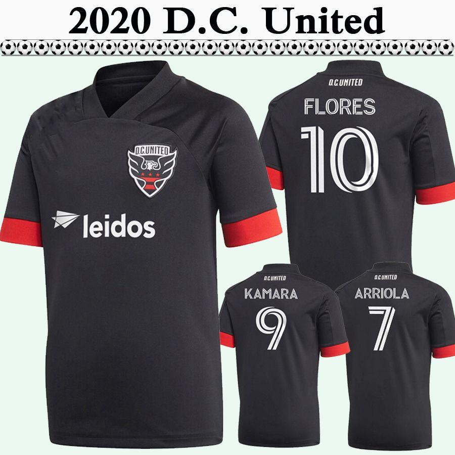 2020 mls Arriola Kamara Flores Mens DC Soccer Jerseys Nouveau D.C. United Gessel Home Black Away Chemise de football Souris Sleeve Uniforms Jersey