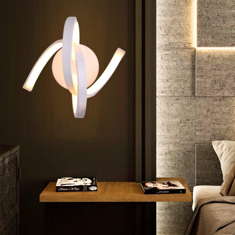 Lámpara de iluminación Simple moderno creativo de la cama de la cama de la cama Lámpara de la lámpara de la lámpara de la pared LED de la cabecera Corredor de la cabecera Iluminación de metal