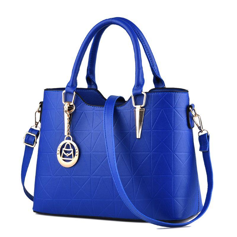 HBP حمل حقائب النساء حقائب اليد سعة كبيرة بو الجلود حقيبة الكتف bolsos موهير اللون الأزرق