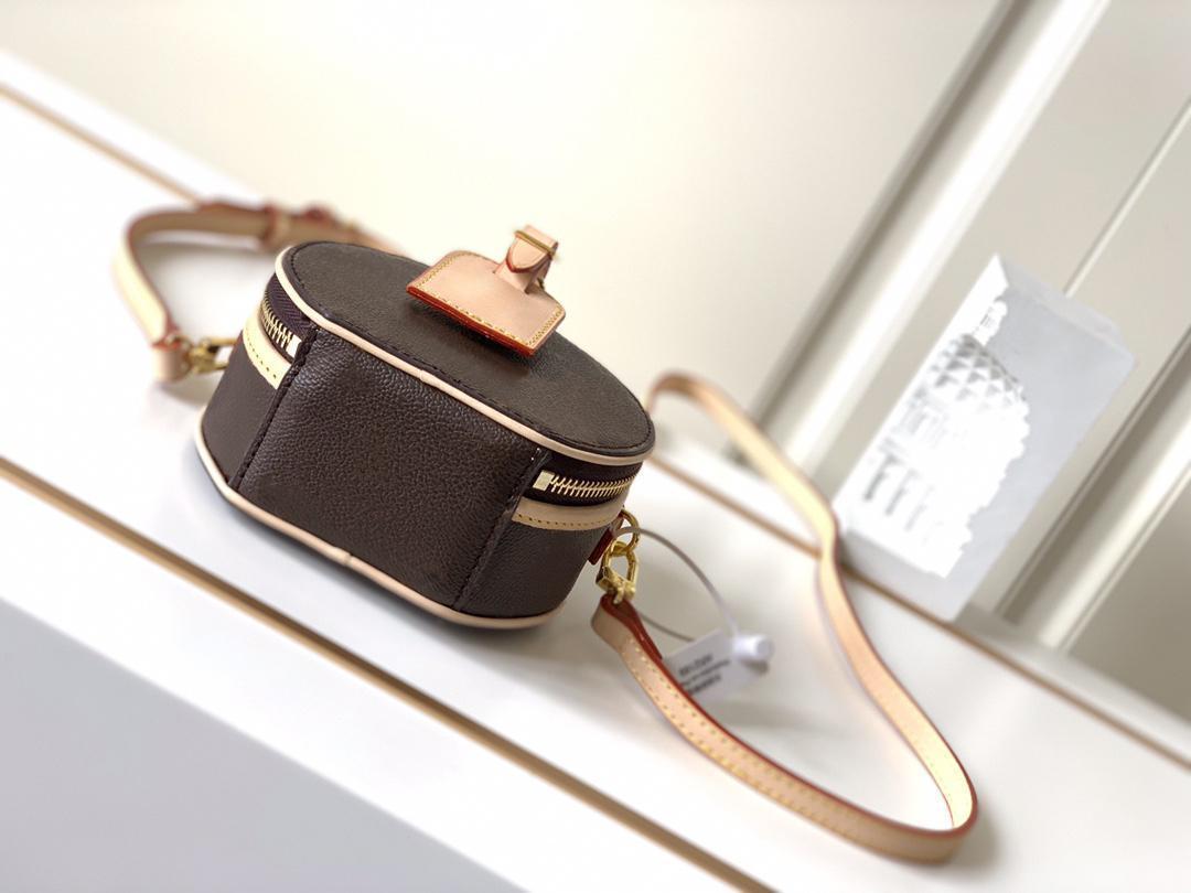 Petite Boite Chapeau Boite MM PM Handtasche Geldbörse Taschen Original Rindsleder Trimm Leinwand Hatbox Designer Umhängetasche Crossbody Messenger