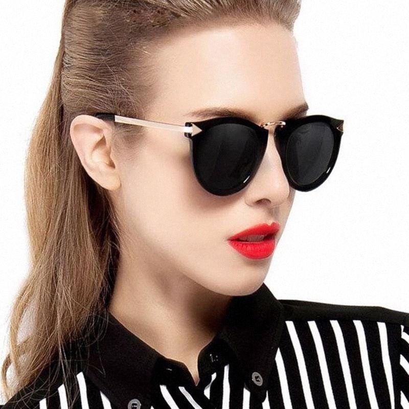 2020 Fashion Katzenaugen-Sonnenbrille Frauen Metall Original-Sun-Glas-Weiblich Jahrgang Feminino l4oA #